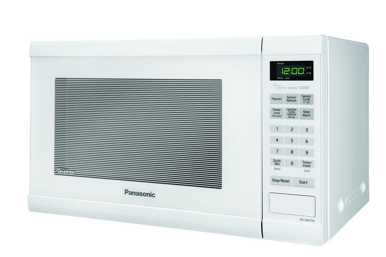 Panasonic Nnsn651waz Countertop Microwave With Inverter Technology 1 2 Cu Ft 1200w White Che Countertop Microwave Oven Countertop Microwave Microwave Oven