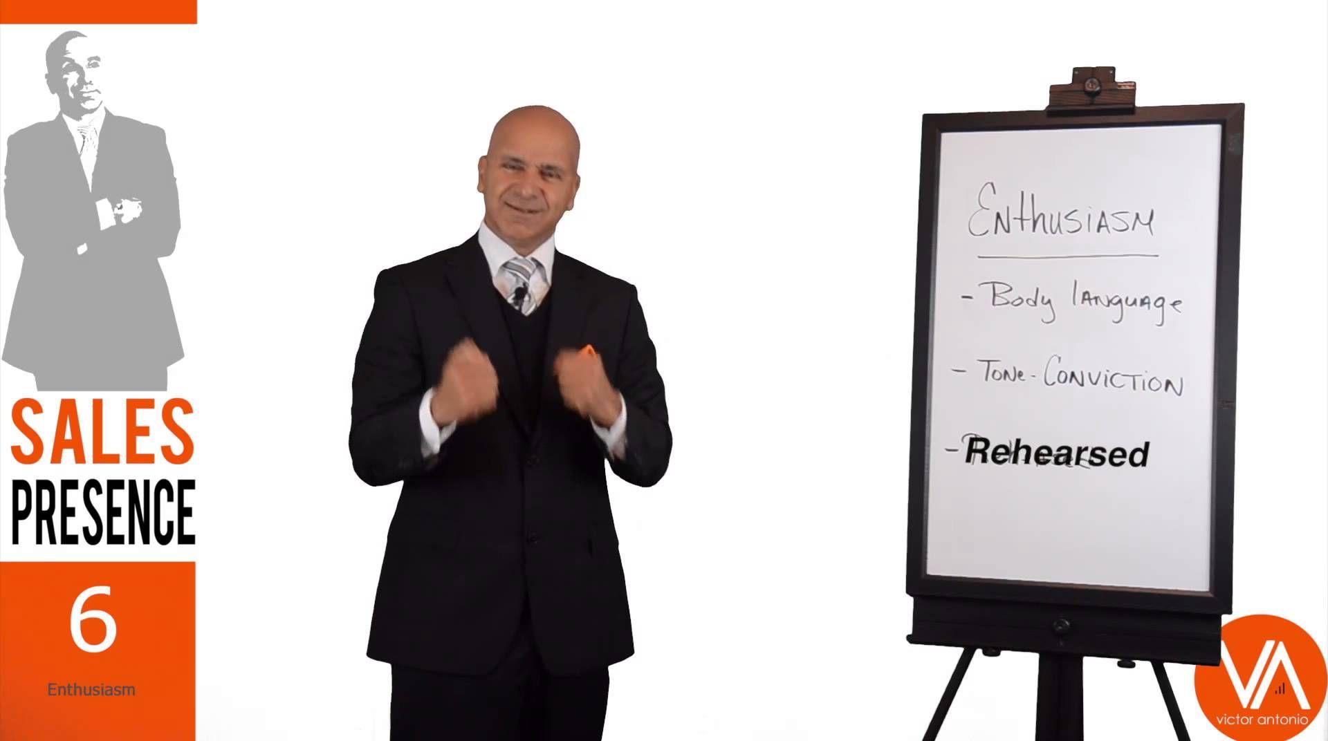 Sales Presence Enthusiasm, Body Language & Tone (6/10