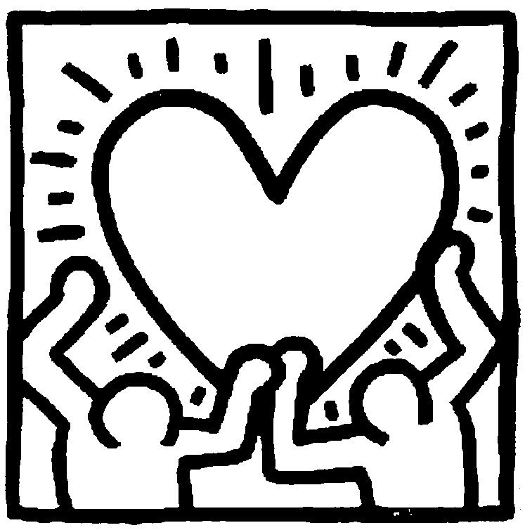 Coloring Pages Art Famous paintings Drawing Haring in