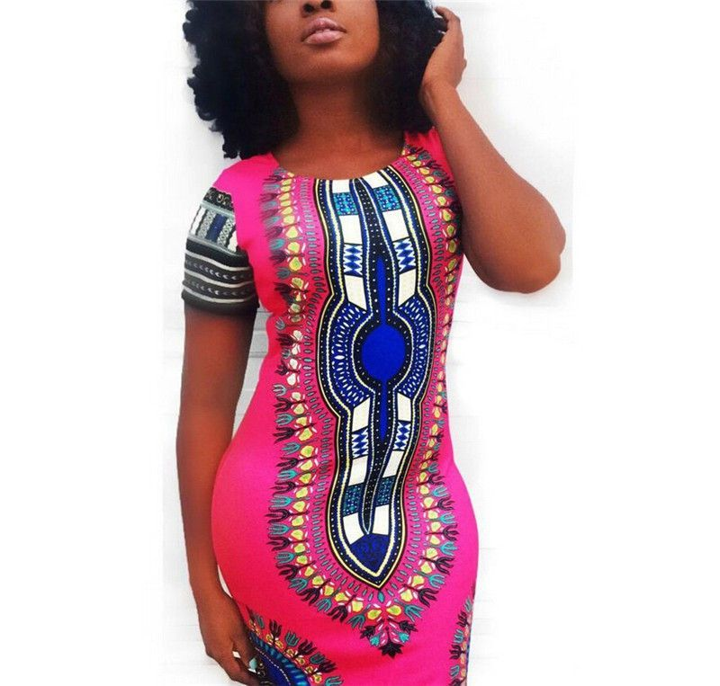 378e092a9a sexy african dresses for women big size elastic dashiki for women  traditional african clothes print shirt D28-H38-EZ