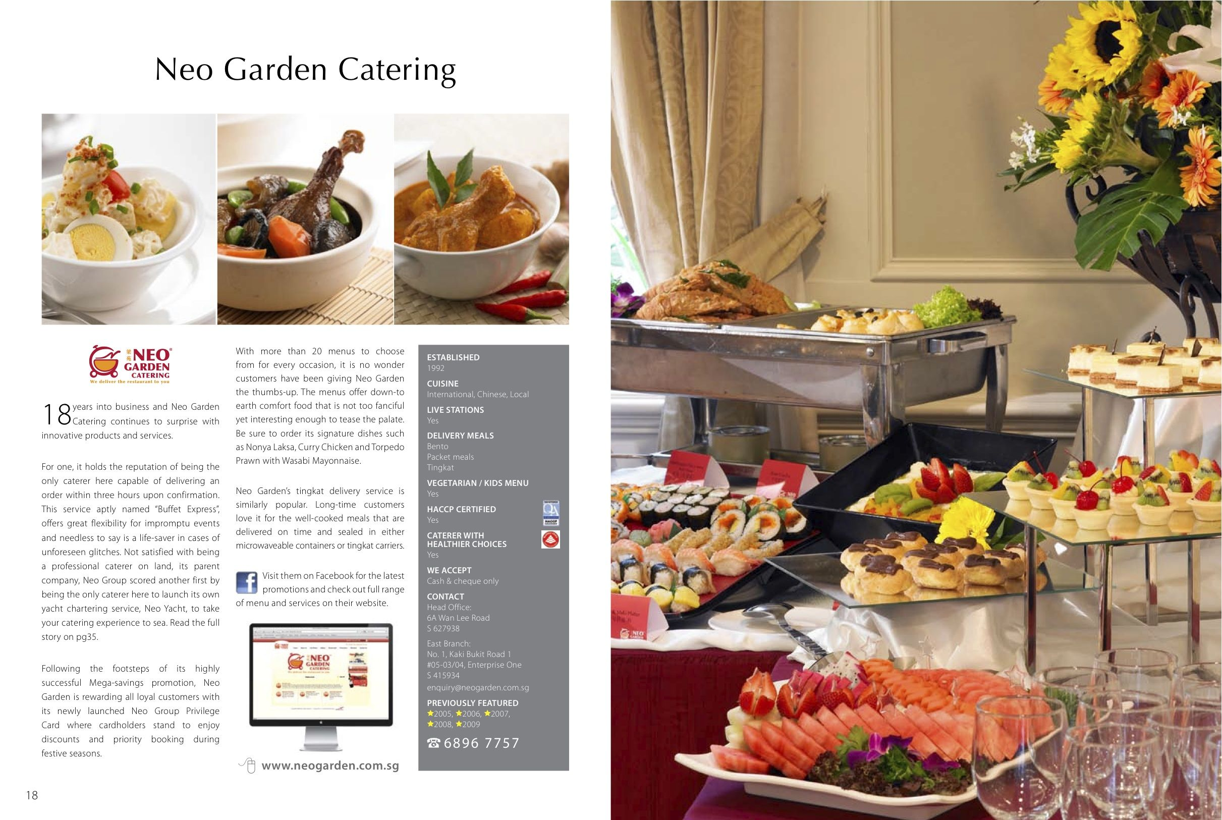 Neo Garden Catering Www Facebook Com Cateringonline With Images