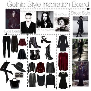 Gothic Style Inspiration Board