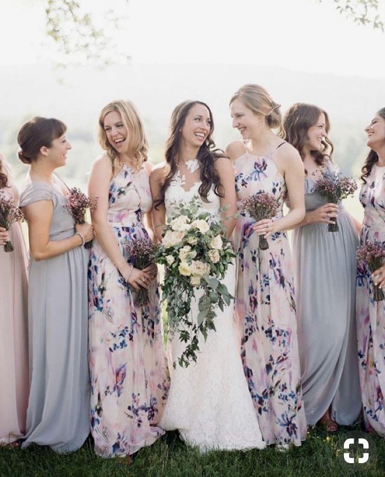 983bae6eacf9 Lavender Bridesmaid Dresses, Lavender Wedding Dress, Patterned Bridesmaid  Dresses, Dusty Rose Wedding,
