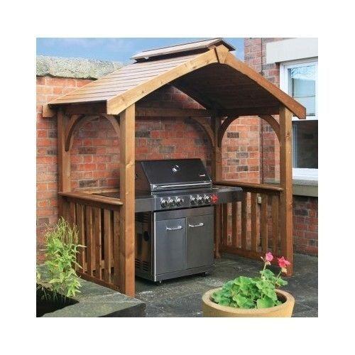 Garden Bar Ideas Uk: Grill-Gazebo-Outdoor-Wooden-Patio-Shade-Deck-BBQ-Shelter