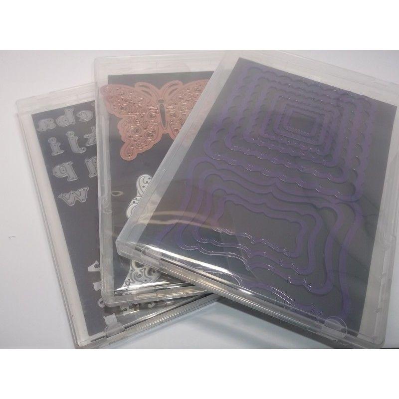 10 cajas de pl stico transparente imantadas tipo dvd para for Cajas de plastico transparente