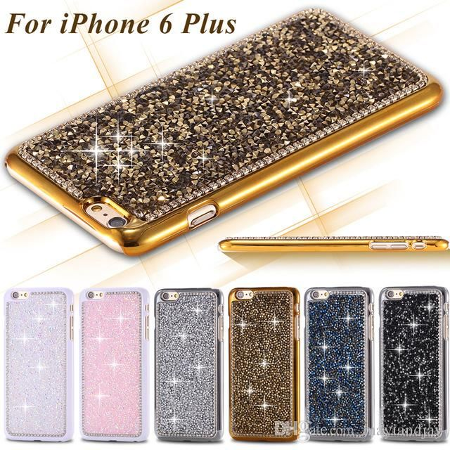 Price: US $ 5.69/piece Buy 2 pcs immediately get 30% discount  Free shipping to Worldwide  Luxury Glitter Bling Rhinestone Crystal Cell Phone Case  For iPhone 5S/6/6plus  Color:1.Black 2.White 3.Gold 4.Silver 5.Blue 6.Pink If you like it, please contact me: Wechat: 575602792  Whats App: 13433256037  E-mail: woxiansul@live.com