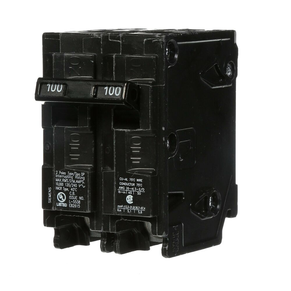 Sponsored Ebay Q2100 100 Amp Double Pole Type Qp Circuit Breaker 100 Amp One Day Shipping Circuit Breakers Siemens