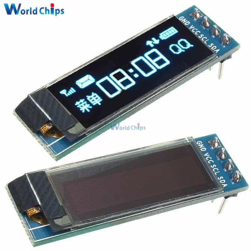 0 91 Inch 128x32 Iic I2c Blue Oled Lcd Display Diy Oled
