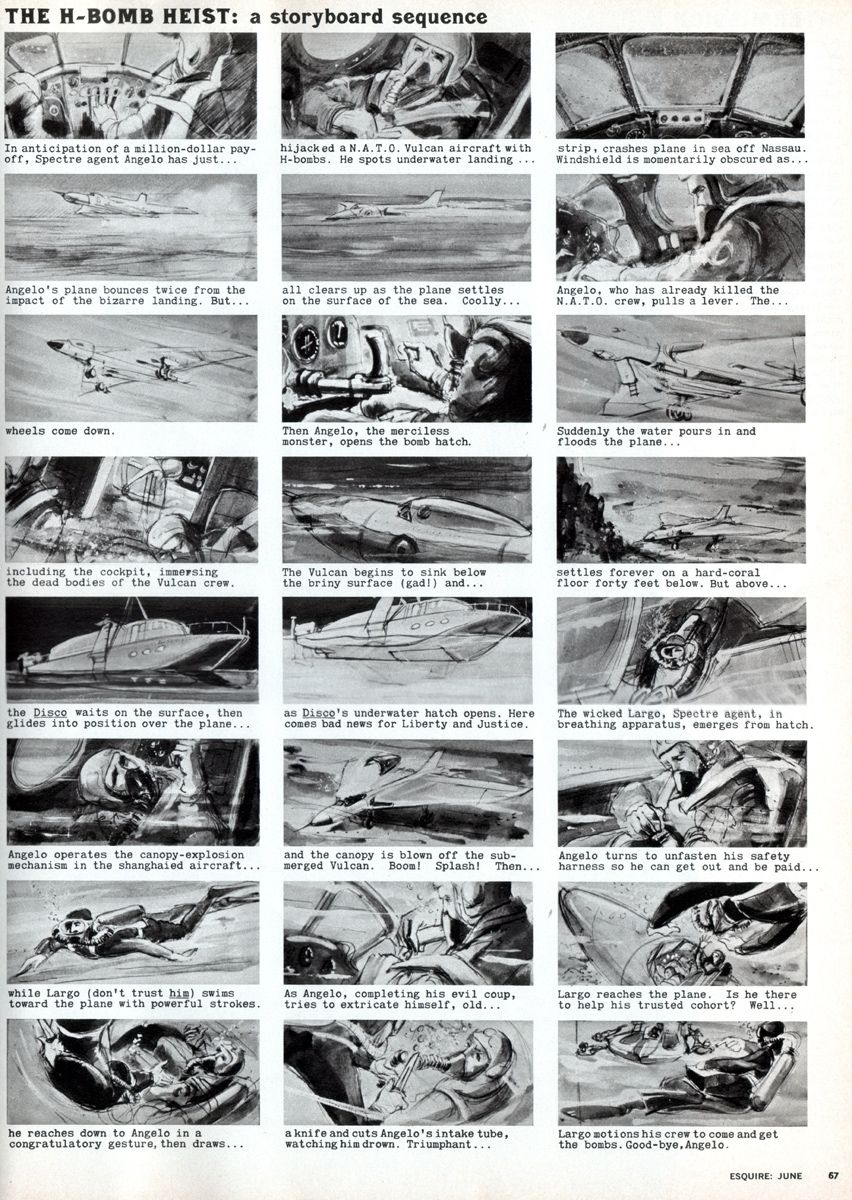 Storyboard For The James Bond Movie Thunderball Published In