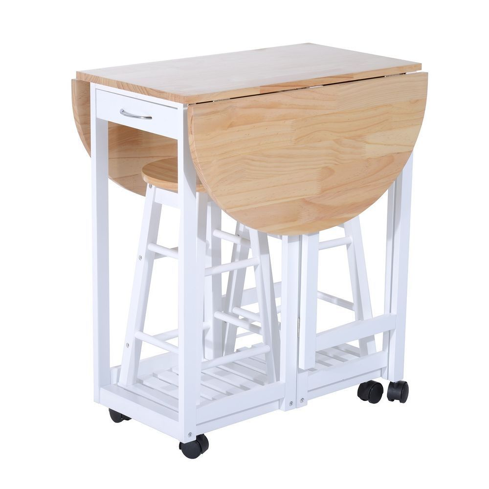 The Table Side Fold Down When Not In Use Or If Extra Seating Is Required Just Lift Up The Tabl Bar Table And Stools Dining Table In Kitchen Breakfast Bar Table