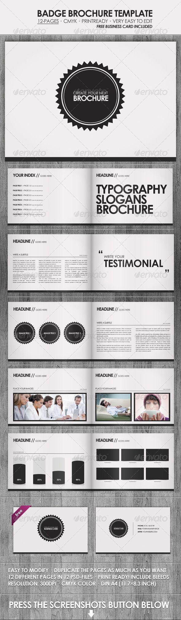 Badge - Brochure / Presentation Template | Grafiken und Schöner