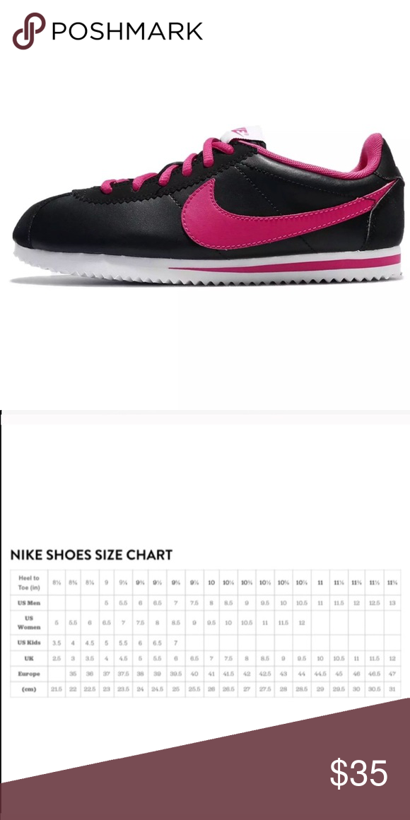 pretty nice 76637 268d1 NIKE CORTEZ BLACK PINK WOMENS SHOES SIZE 7.5 Brand new without box. Shoes  are a size 6 youth which converts to a women s size 7.5.