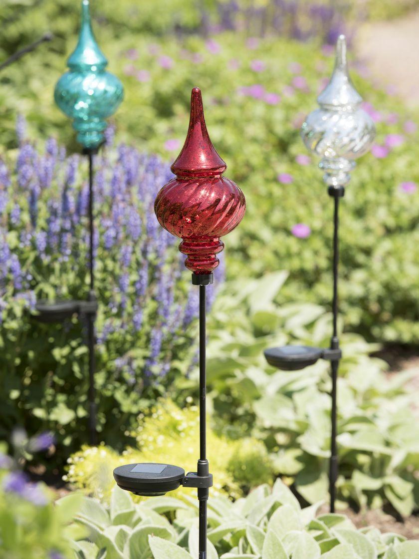 Ordinaire Solar Garden Stakes Finial   Outdoor Christmas Ornaments