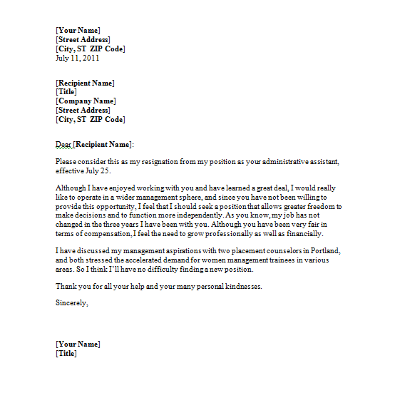 Resignation Letter Template Aplg Planetariums Cover Format