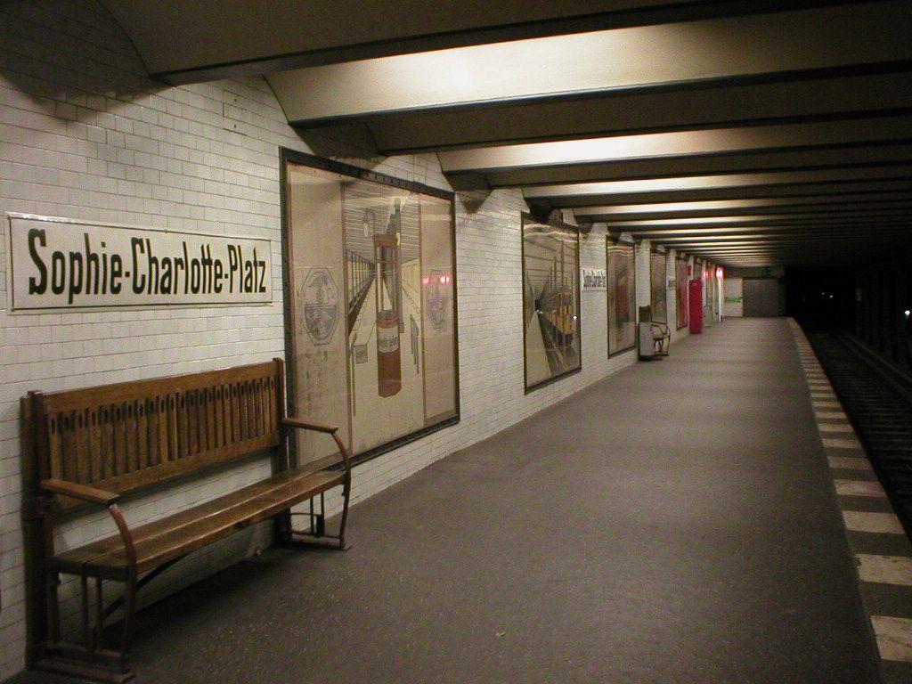 Vintage U Bahn Berlin Sophie Charlotte Platz Geschichte der Berliner U Bahn