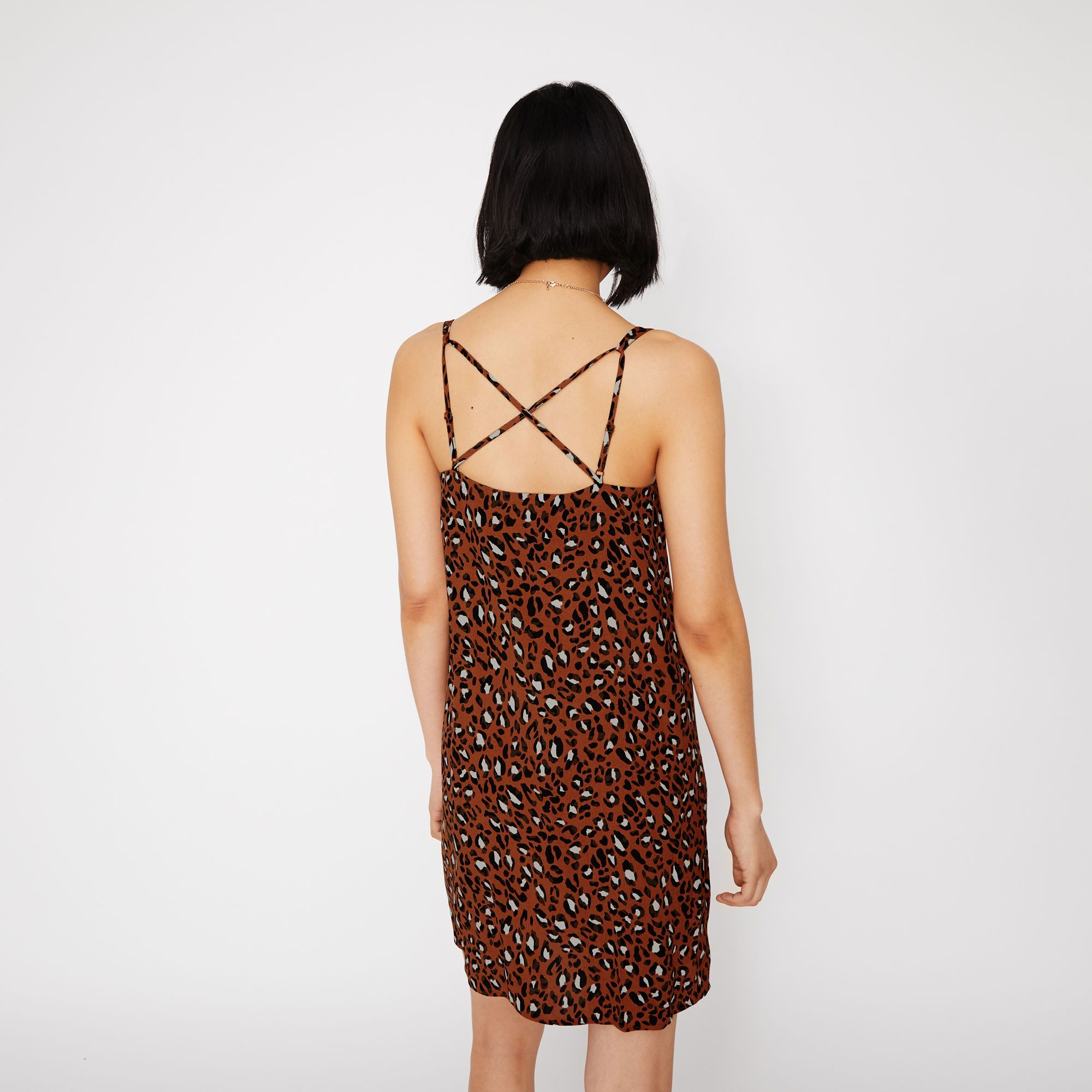 Warehouse Animal Cami Dress Tan 3 Long Summer Dresses Dresses Long Sleeve Dress [ 2000 x 2000 Pixel ]