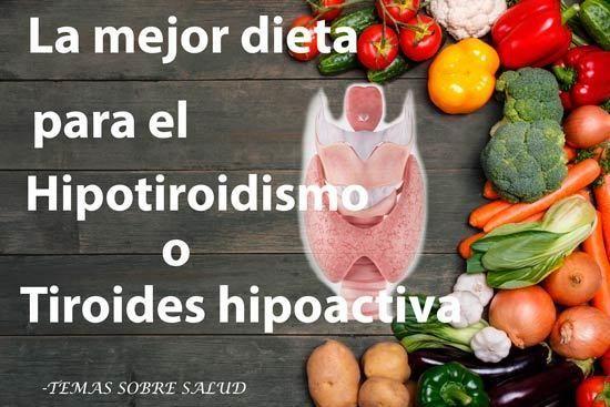 Dieta hipoactiva tiroidea síntomas de diabetes