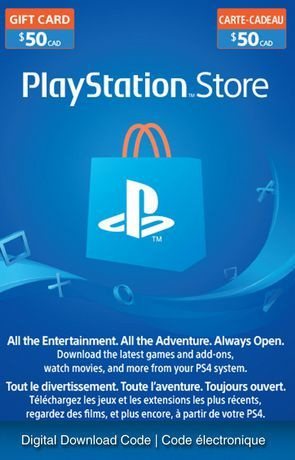 PSN Card– $50 Electronic Code Download | Walmart Canada