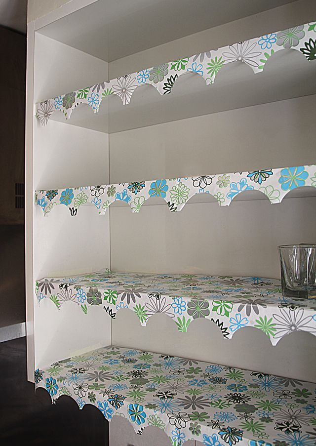 Shelf Lining Paper With Decorative Edge Full View Diy