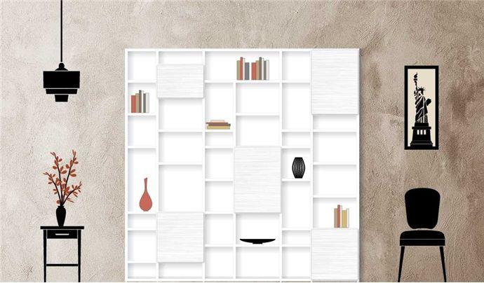 Libreria componibile moderna a scaffali Easy | librerie ...