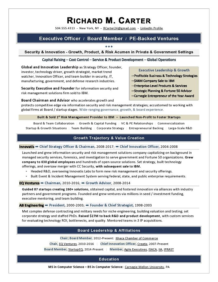 it director sample resume  cio resume writing by former