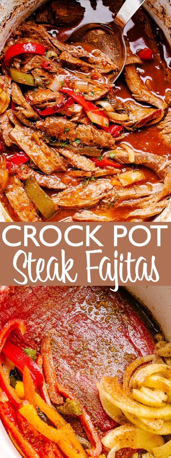 Crock Pot Beef Fajitas Recipe | Easy Crock Pot Dinner Idea