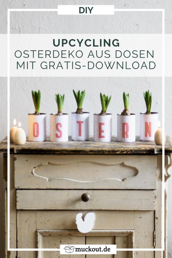 Upycling-Oster-Deko: Dosen für Pflanzen mit Freebie – HANDMADE Kultur