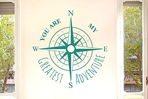 You Are My Greatest Adventure Wall Stickers Art Decals - Large (Height 57cm x Width 57cm) Aqua Green CUT IT OUT http://smile.amazon.com/dp/B00TWP4LWM/ref=cm_sw_r_pi_dp_dFE7vb0BGDZBT