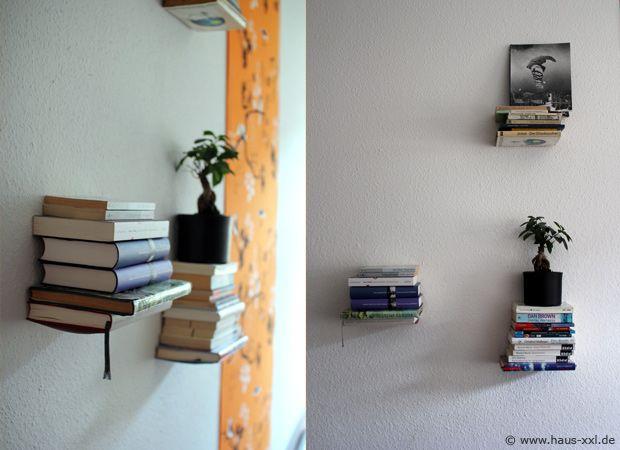 b cherregal aus b chern schwebende b cherregale sind dekorative elemente zur raumgestaltung. Black Bedroom Furniture Sets. Home Design Ideas