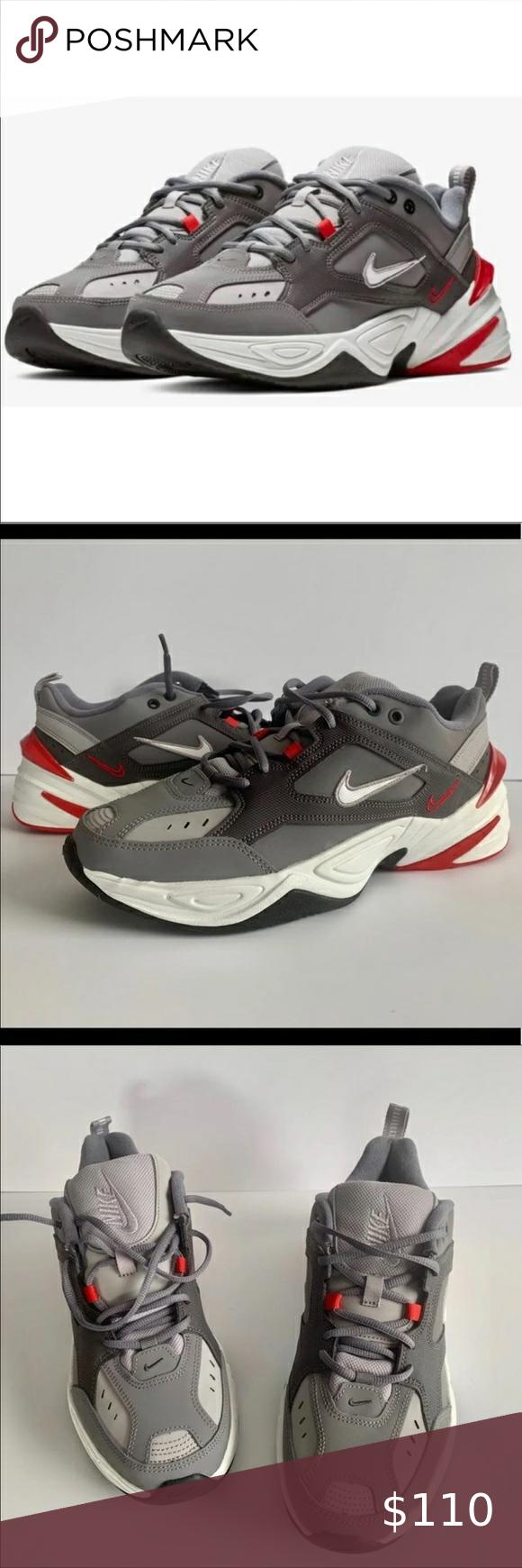 Nike M2k Tekno Gunsmoke Red Nike Shoes Nike Red Nike