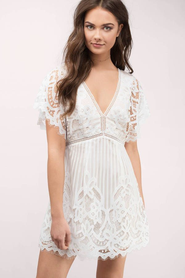 9e8af0fa4f2 Get the Lina Lace Skater Dress. Featuring a V neckline and trim detail.  Pair with lace up heels. - Fast   Free Shipping For Orders over  50 - Free  Returns ...