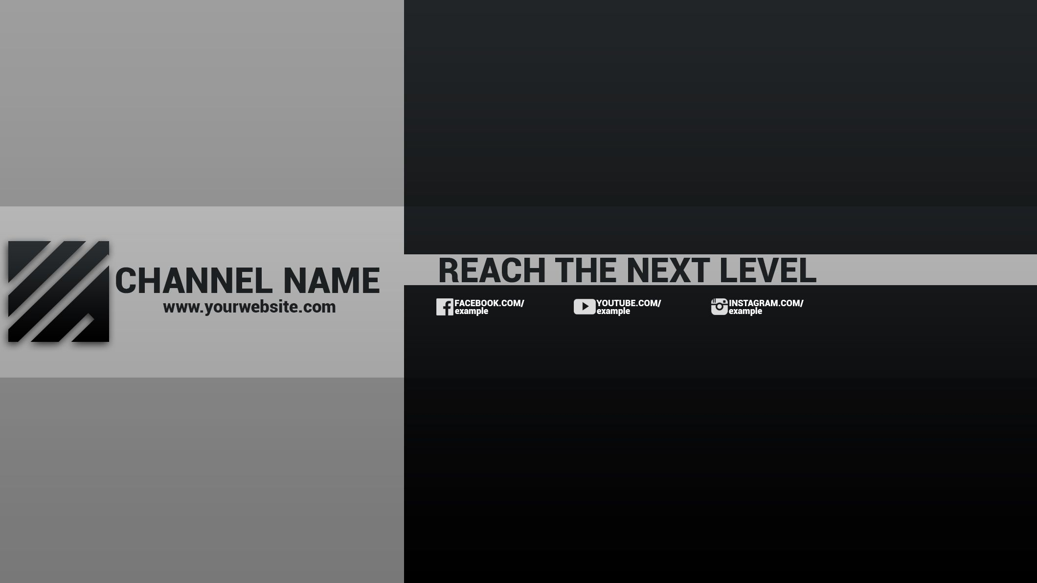 Templates Banner Youtube