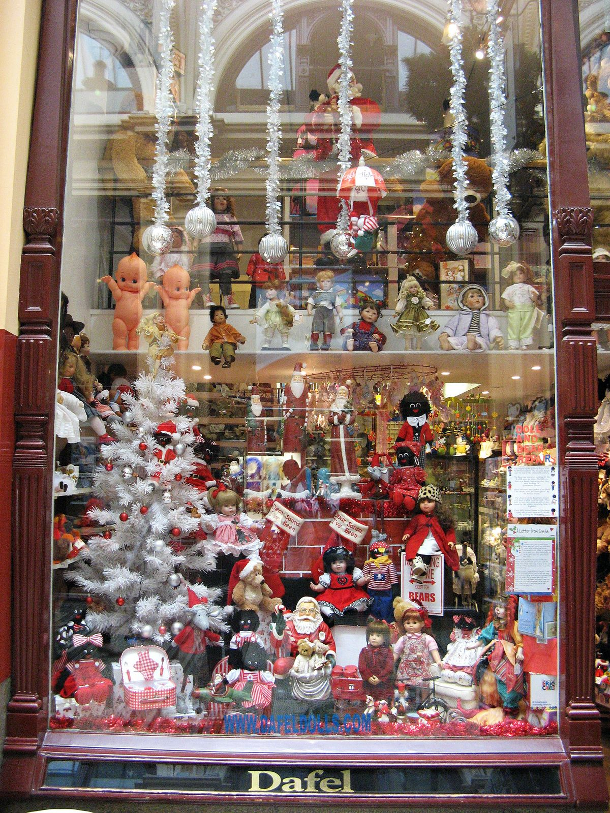 Toy Shop Window Block Arcade Melbourne Australia Christmas Decorations Holiday Decor Tea Room