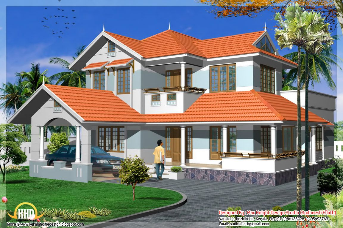Brown Roof Green Shutters Google Search Craftsman House Plans Kerala House Design House Design Photos
