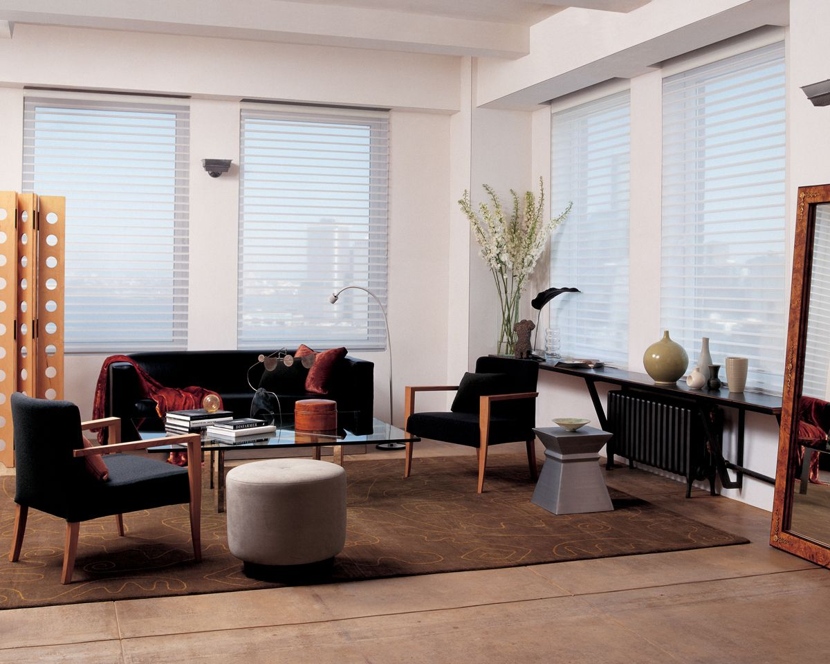 Silhouette® window shadings provide a backdrop of subtle