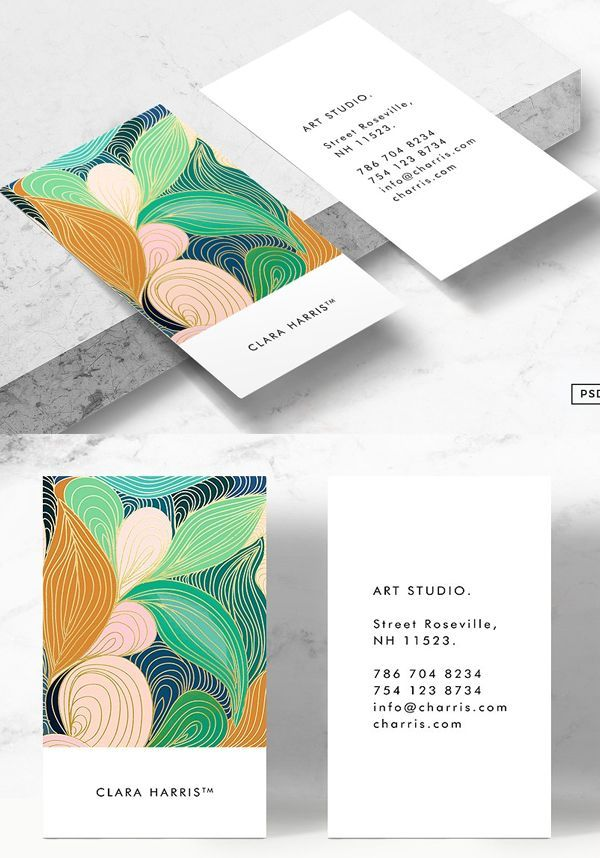 Swirly Art Business Card Tmeplate Businesscards