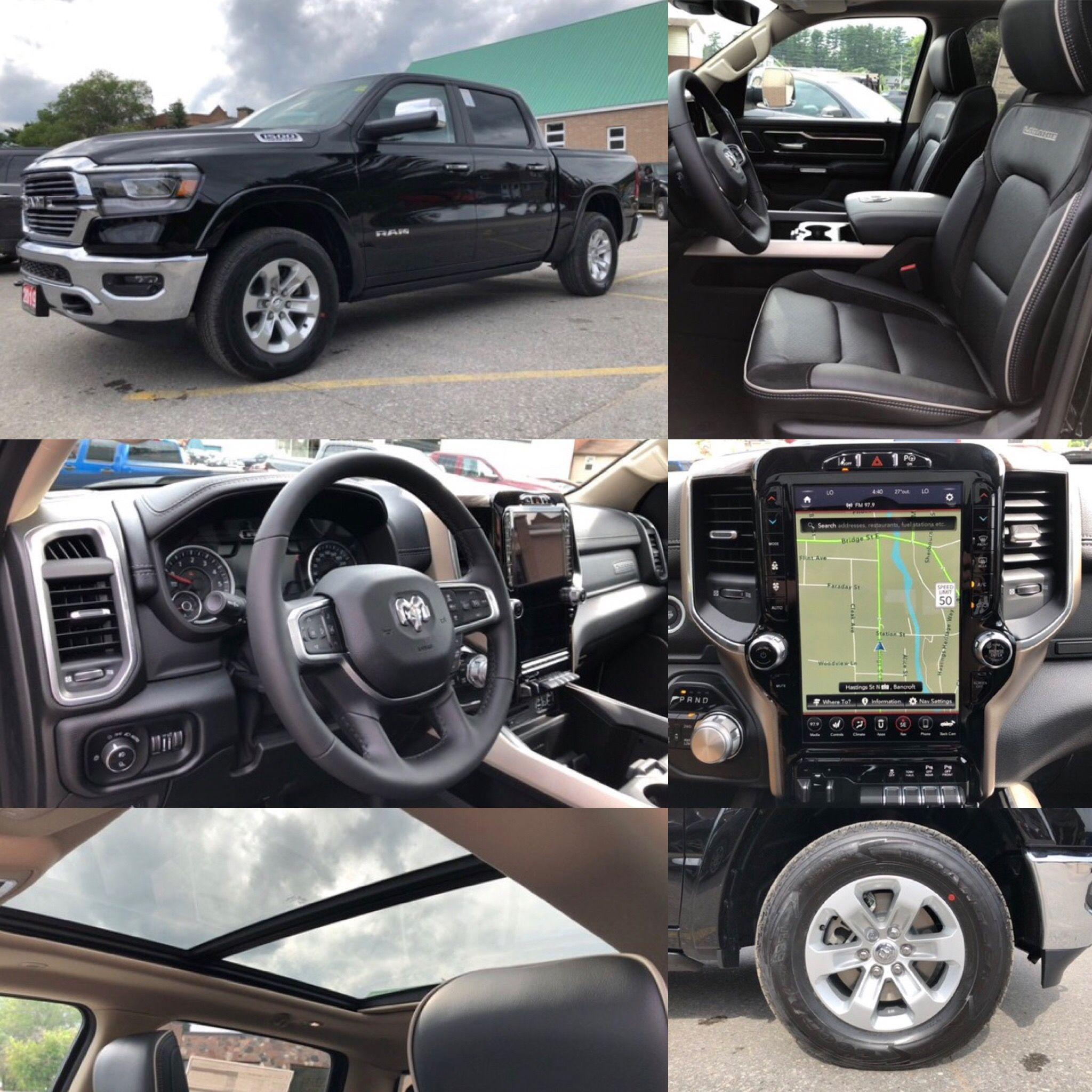 2019 Diamond Black Ram All New 1500 Laramie 4x4 Leather