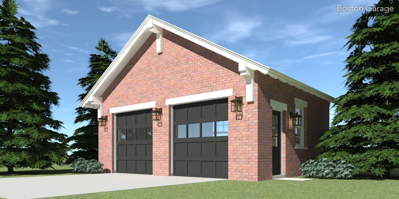 Traditional Brick Garage. 2 Car Garage plan, House plans