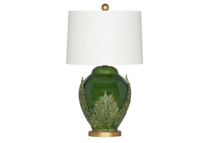 Ferns Table Lamp Emerald Table Lamp Lamp Drum Shade