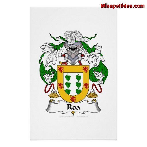 Escudo De Armas De Roa Escudo De Armas Apellidos Escudo Nobiliario Escudo