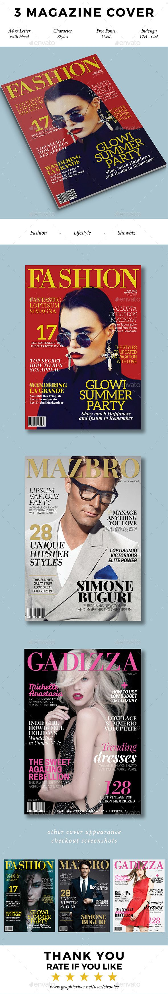 3 Magazine Covers By Siroolee 3 Stylish Magazine Cover Templates In