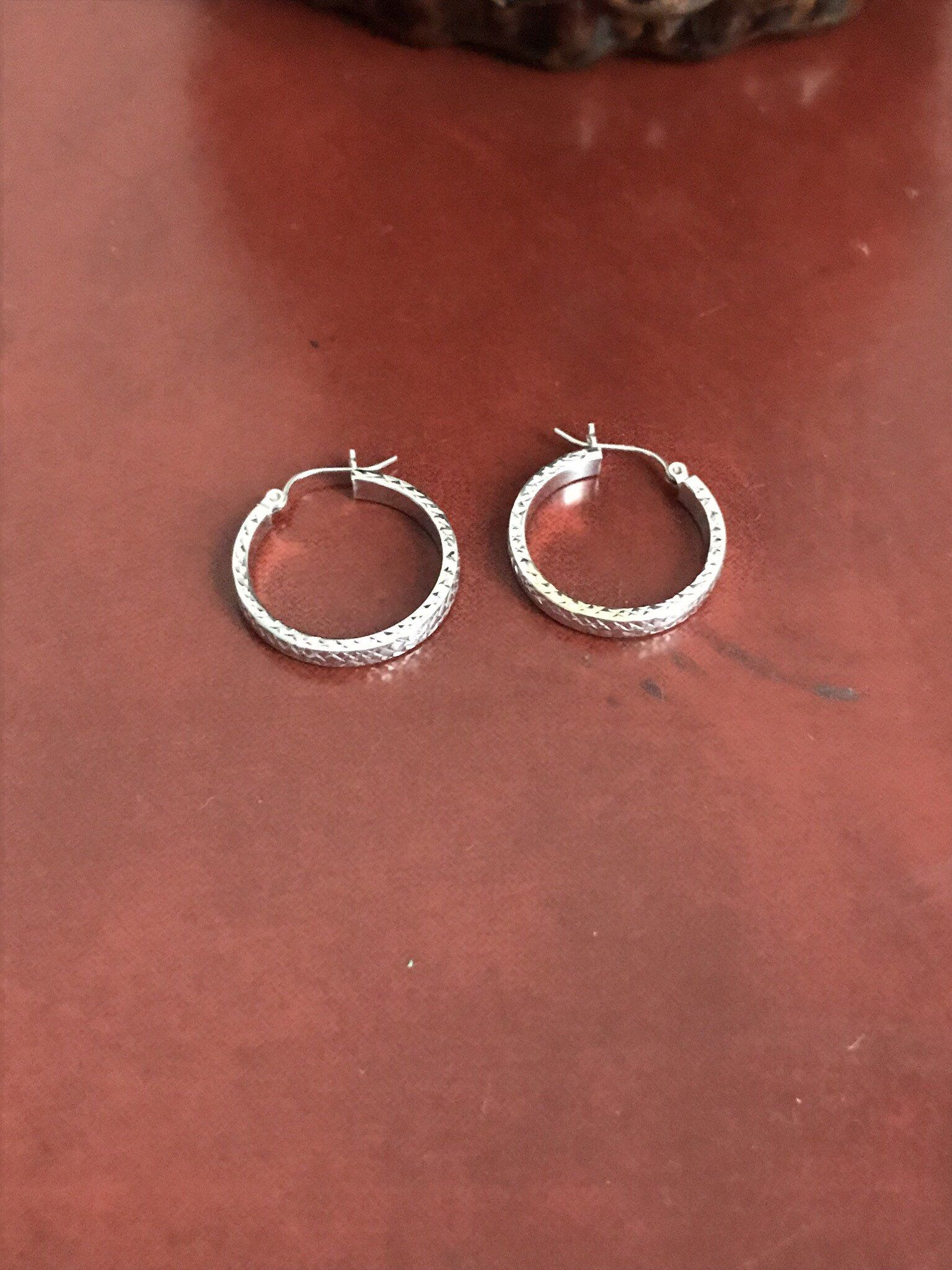 Excited To Share The Latest Addition My Etsy Vintage Silver Hoops Sterling Small Pierced Earrings