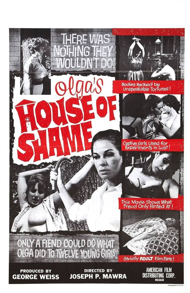 Olga's House of Shame fetish/sexploitation movie poster