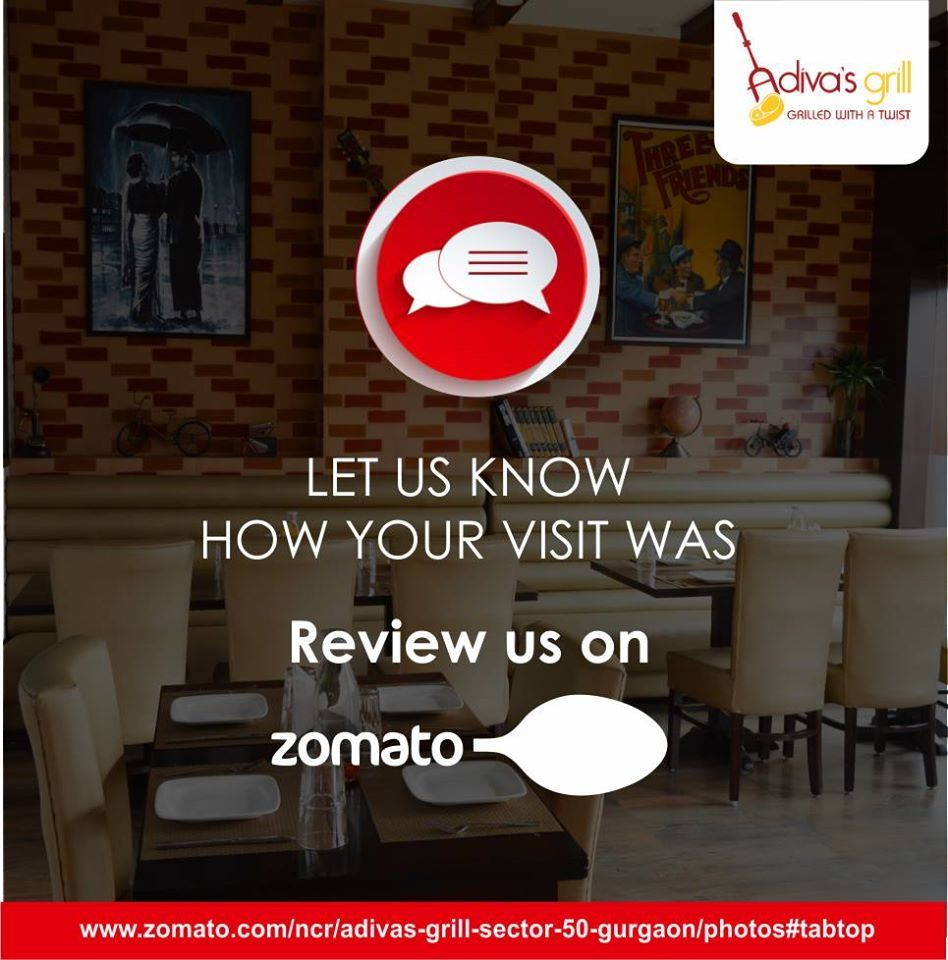 Review Us On Zomato And Share Your Experience Book Tables At Adivas Grill