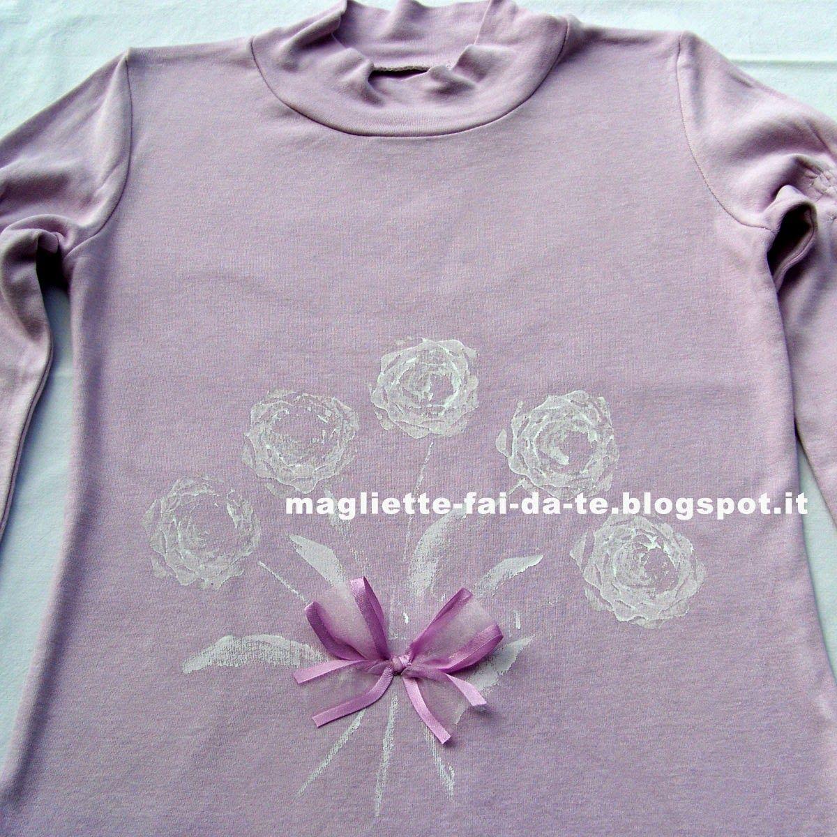 Magliette fai da te: riciclo, colorare, decorare: ROSE fatte con il RADICCHIO!