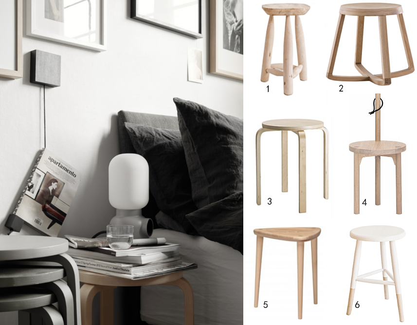 Use stools as side tables or bedside tables home decorating use stools as side tables or bedside tables watchthetrailerfo