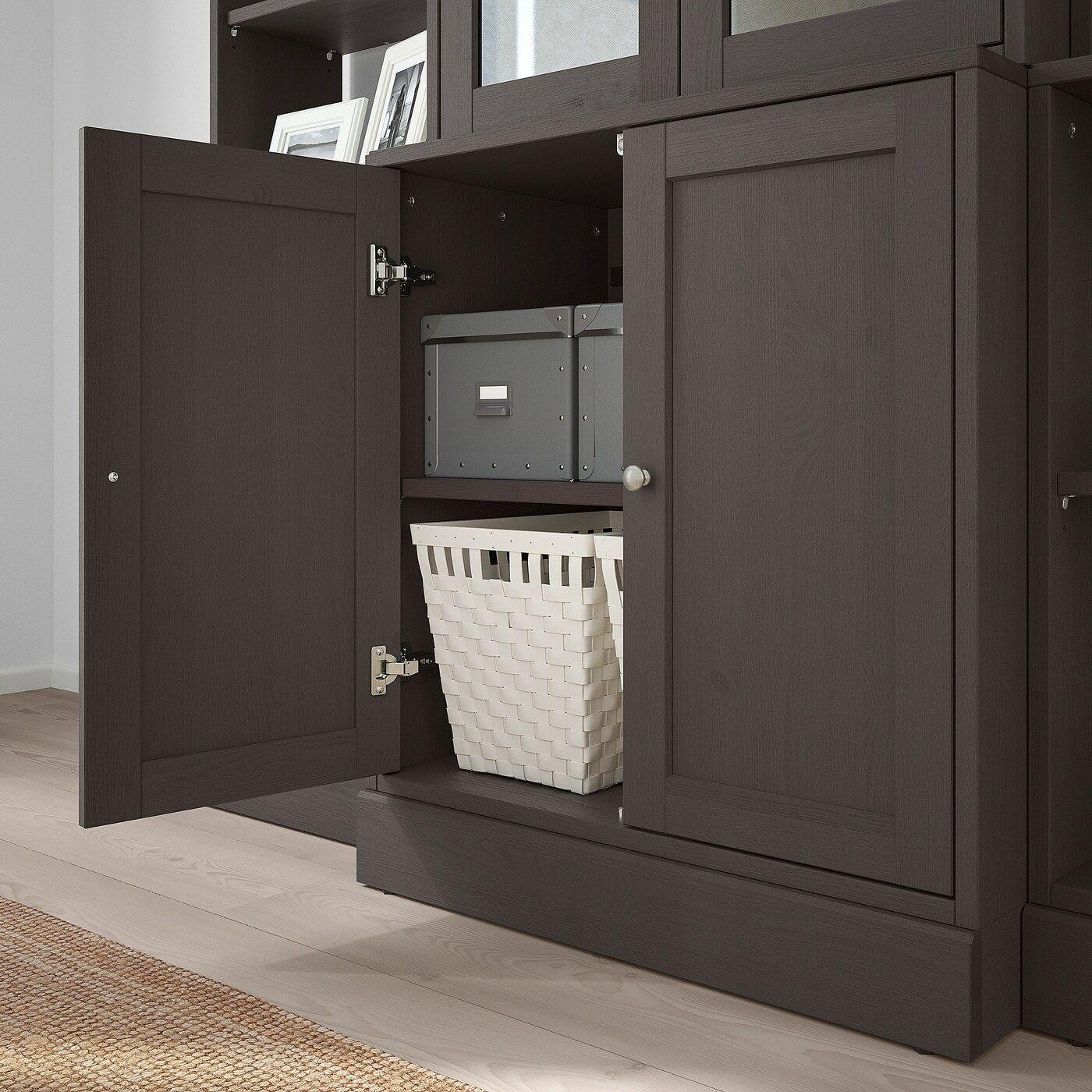IKEA – HAVSTA Storage with glass doors Dark brown
