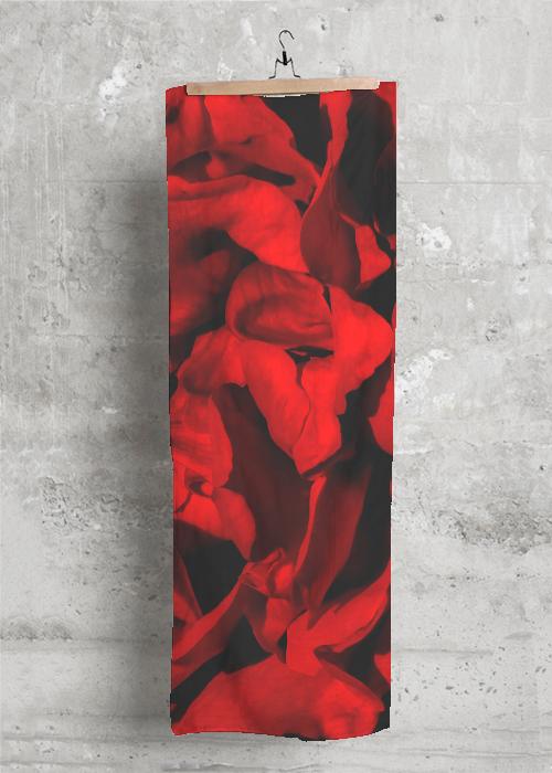 Mens Silk Pocket Square - Orange / Red Pocket Sq. by VIDA VIDA fnaUnlV