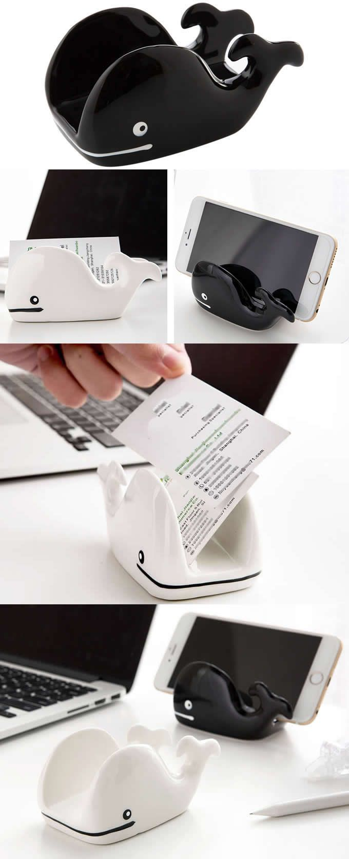 Whale Office Desk Organizer Mobile Phone Holder Stand Business