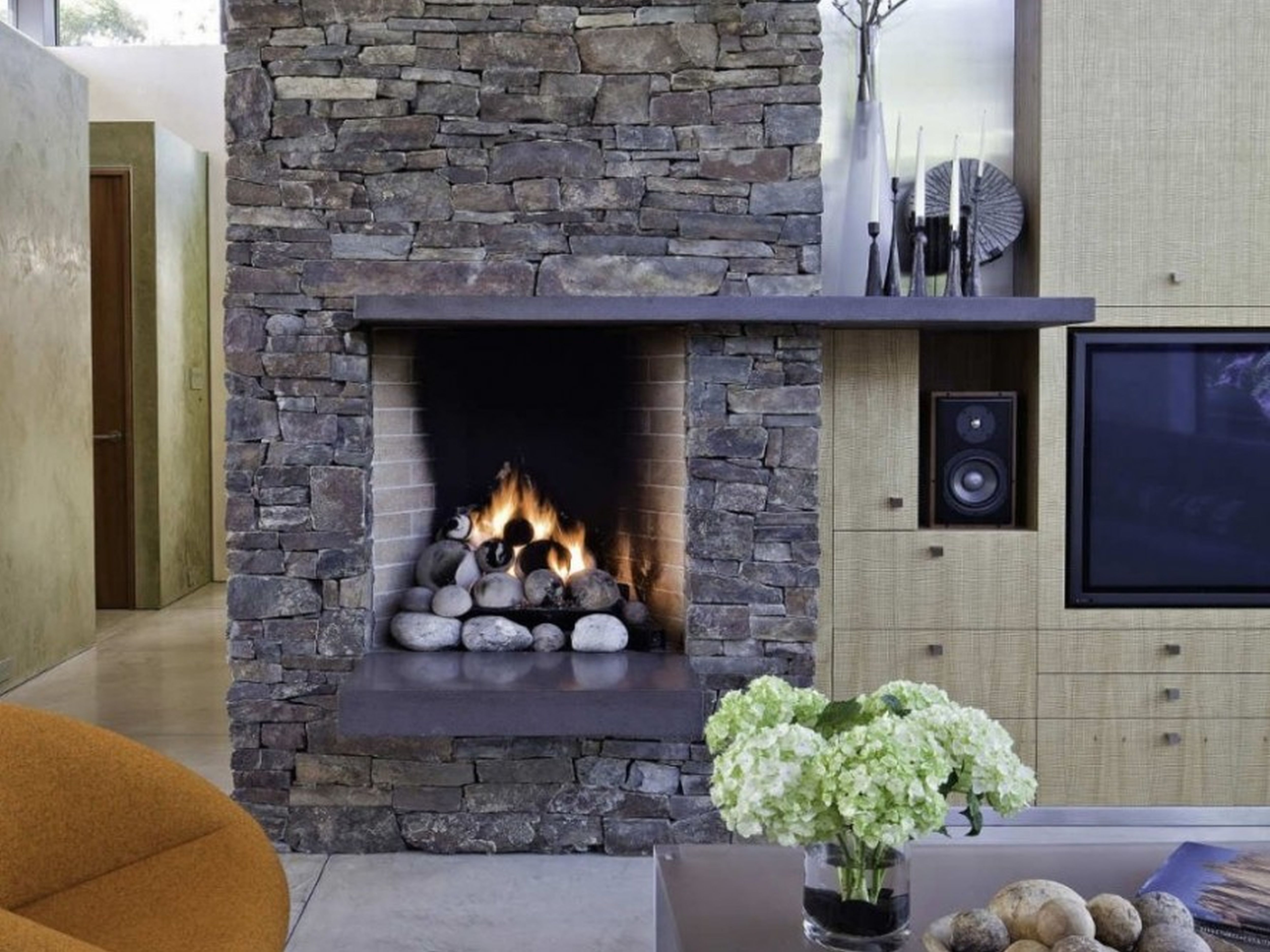 Fresh Dry Stack Stone Fireplace Cost 2148